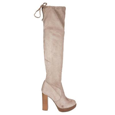 JAIMY Faya overknee boots beige