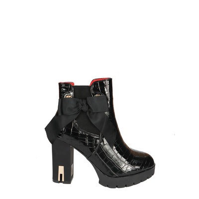 JAIMY Stacey bow boots croco