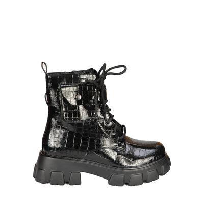 JAIMY Juul combat boots croco