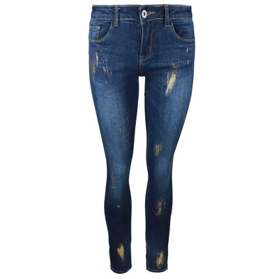 JAIMY Gold sparkle jeans