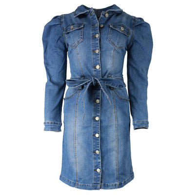 JAIMY Puff sleeve denim dress
