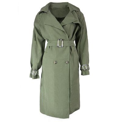 JAIMY Cara trench coat army green