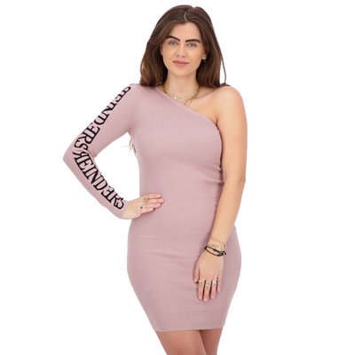 REINDERS Laila one shoulder dress mauve