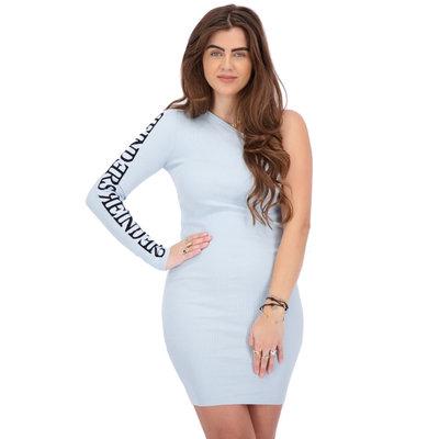 REINDERS Laila one shoulder dress baby blue