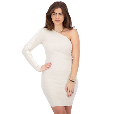 REINDERS Laila one shoulder dress creme