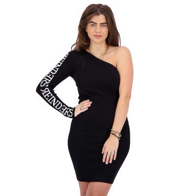 REINDERS Laila one shoulder dress black