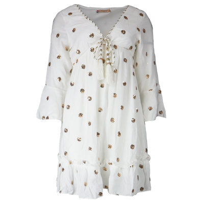 JAIMY Chloe ibiza dot dress white