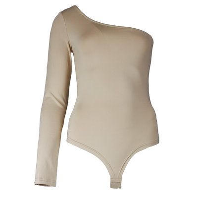 JAIMY One shoulder travel body beige