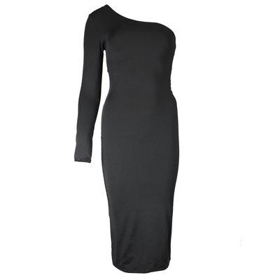 JAIMY One shoulder travel dress black