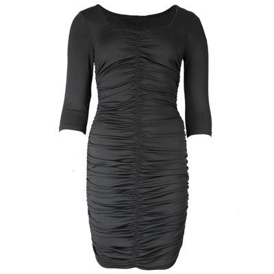 JAIMY Ruched sqaure neckline travel dress