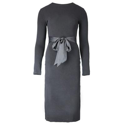 JAIMY Lotte satin detail dress black
