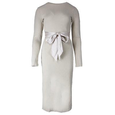 JAIMY Lotte satin detail dress beige