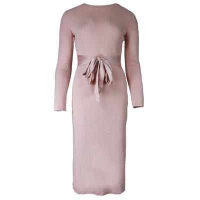 JAIMY Lotte satin detail dress pink