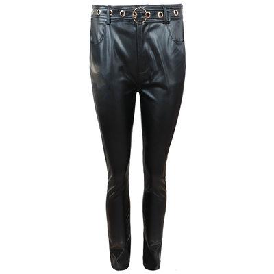 FRACOMINA Eco leather 5 pockets pants