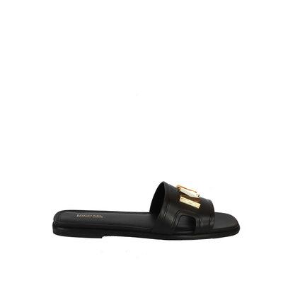 MICHAEL KORS Kippy leather slide sandal black