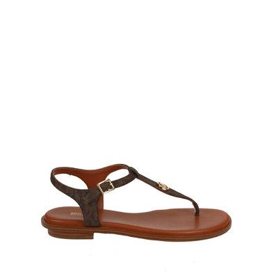 MICHAEL KORS Mallory thong sandals brown