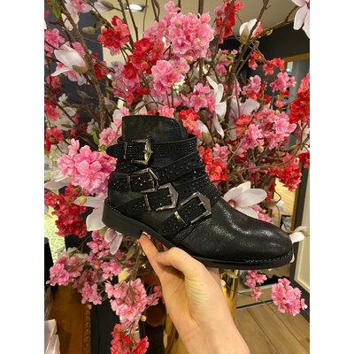 JAIMY Shine studs boots black