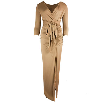 JAIMY Maxi travel dress cognac