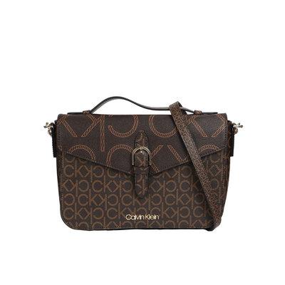 CALVIN KLEIN Shoulder bag with top brown mono
