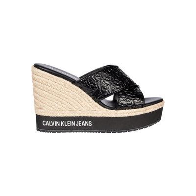 CALVIN KLEIN Criss cross wedge sandal