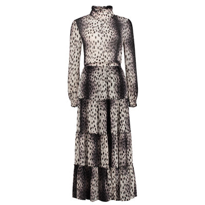 FIFTH HOUSE Ronni long dress dark cheetah