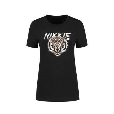 NIKKIE Nikkie tiger t-shirt black