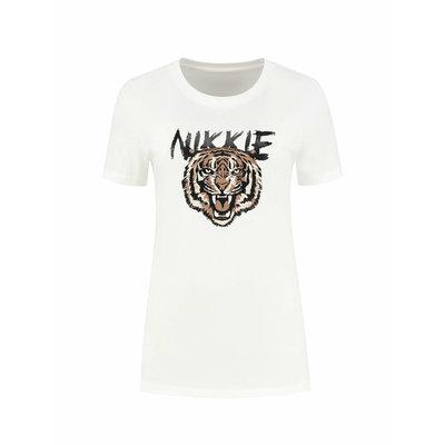 NIKKIE Nikkie tiger t-shirt white