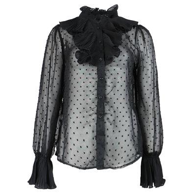 JAIMY Ruffle detail blouse black