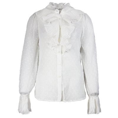 JAIMY Ruffle detail blouse white