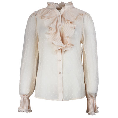 JAIMY Ruffle detail blouse beige