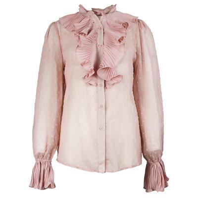 JAIMY Ruffle detail blouse pink