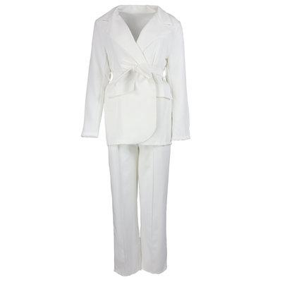 JAIMY Wide leg pants suit white