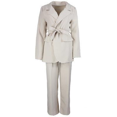 JAIMY Wide leg pants suit beige