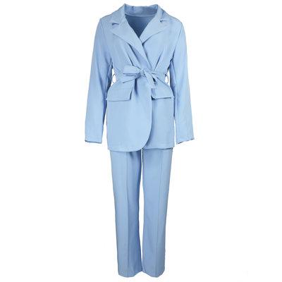JAIMY Wide leg pants suit light blue
