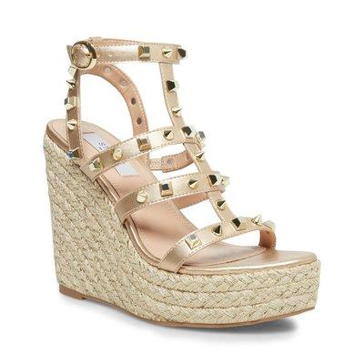 STEVE MADDEN Sallina wedge heel gold