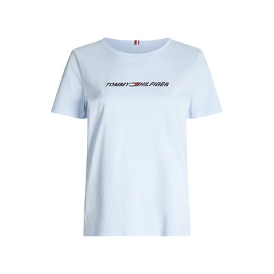 TOMMY HILFIGER Cool graphic t-shirt sweet blue