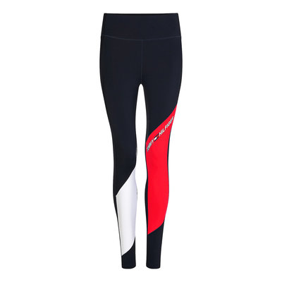 TOMMY HILFIGER Moisture wicking colour blocked leggings desert sky