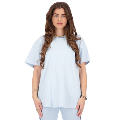 REINDERS T-shirt open back baby blue