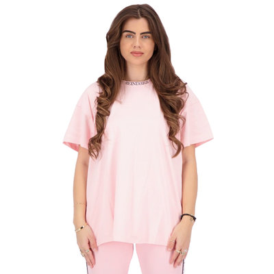 REINDERS T-shirt open back baby pink