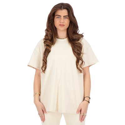 REINDERS T-shirt open back creme