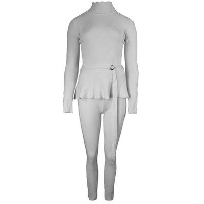 JAIMY Belt detail comfy set grey
