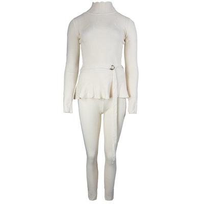 JAIMY Belt detail comfy set beige
