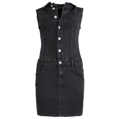 JAIMY Feline denim dress BLACK