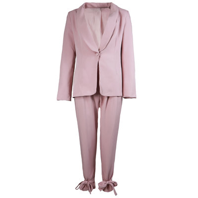 JAIMY Bow detail suit pink