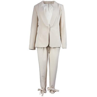 JAIMY Bow detail suit beige