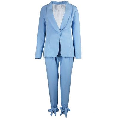 JAIMY Bow detail suit light blue