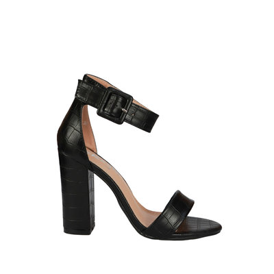 JAIMY Croco high heel black