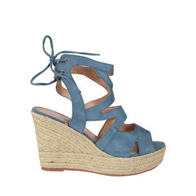 JAIMY Kim wedge heel blue