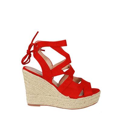 JAIMY Kim wedge heel red