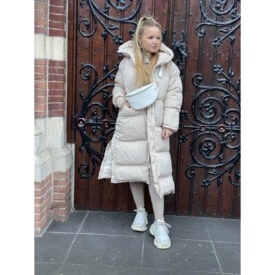 JAIMY Our fav puffer hoody jacket beige